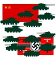 Set of war tanks vector image vector image