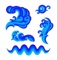 Set of water design elements vector image vector image