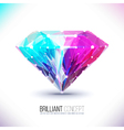 shape of a color diamond isolated on a white vector image vector image