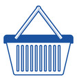 shopping basket icon in blue silhouette vector image vector image