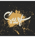 Surf hand-lettering logo vector image