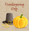 thanksgiving day greeting card banner or vector image vector image