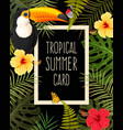 tropical summer card vector image