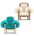 two chairs with soft armrests vector image vector image