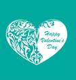 valentines hearts with text vector image vector image