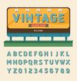 vintage billboard sign vintage signboard vector image vector image