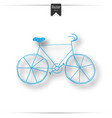 vintage road bicycle hand drawn vector image vector image
