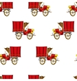 Vintage truck seamless pattern vector image