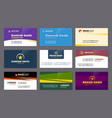 visit cards business corporate identity elegant vector image