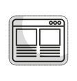 web page template isolated icon vector image vector image