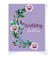 wedding ornament floral decorative purple flower vector image vector image