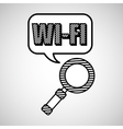 Wifi technology app vector image vector image