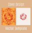 cover design with chinese pattern vector image