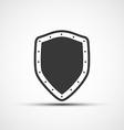 icon metal shield vector image