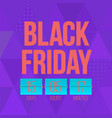 abstract black friday sale layout vector image