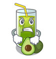 angry avocado smoothies are isolated on characters vector image vector image