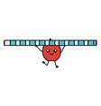 apple lifting straw kawaii character vector image vector image