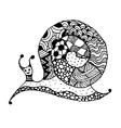Art snail ornate zentangle style for your design vector image vector image