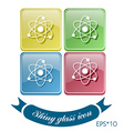 atom molecule symbol icon of physics or chemistry vector image vector image