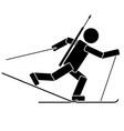 biathlon flat icon vector image vector image
