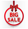 big sale bright holiday round frame banner vector image vector image