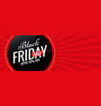 black friday red sale banner with text space vector image