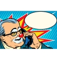 boss clown on the phone vector image vector image