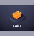 cart isometric icon isolated on color background vector image vector image