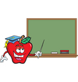 Cartoon Teacher Apple vector image vector image
