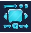 Cartoon Winter Game User Interface vector image vector image