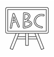 Chalkboard with the leters ABC icon outline style vector image vector image