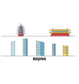 china beijing city flat landmarks vector image vector image