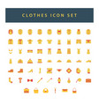 clothes icon set with colorful modern flat style vector image vector image