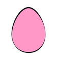 colored easter egg vector image