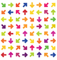 colorful arrows background seamless vector image vector image