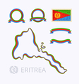 Colors of Eritrea vector image vector image