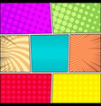 comic book page backgrounds collection vector image vector image