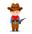 cowboy child in carnival costume vector image