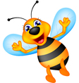 cute bee cartoon vector image