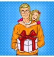 Dad and his beloved daughter vector image