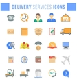 Delivery and logistics services flat web icons vector image vector image
