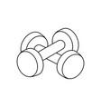 dumbbells outline fitness equipment vector image vector image