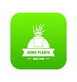 exotic cactus icon green vector image vector image