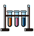 flasks chemistry emergency vector image vector image
