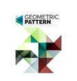 Geometric triangle mosaic pattern element isolated vector image vector image