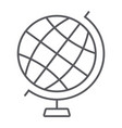 globe thin line icon earth and world geography vector image
