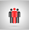 group three workers silhouette with leader vector image vector image