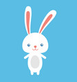 happy easter rabbit easter funny bunny vector image vector image