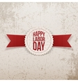 Happy Labor Day Emblem with Text and red Ribbon vector image vector image