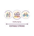 healthy ageing concept icon vector image vector image